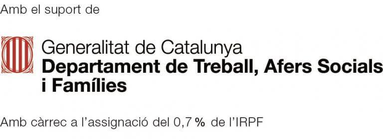 Generalitat de Catalunya. A càrrec de l'assignació del 0,7% de l'IRPF