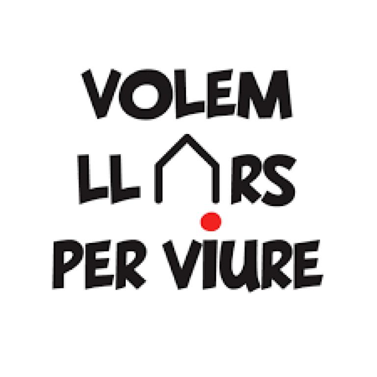 Logotip de la Plataforma Volem llars per viure