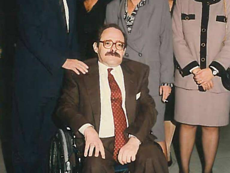Pedro Serra en una vista con el alcalde Pasqual Maragall