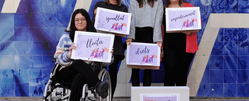Imatge de les 4 dones protagonistes del projecte Dona Alça el Vol 2021
