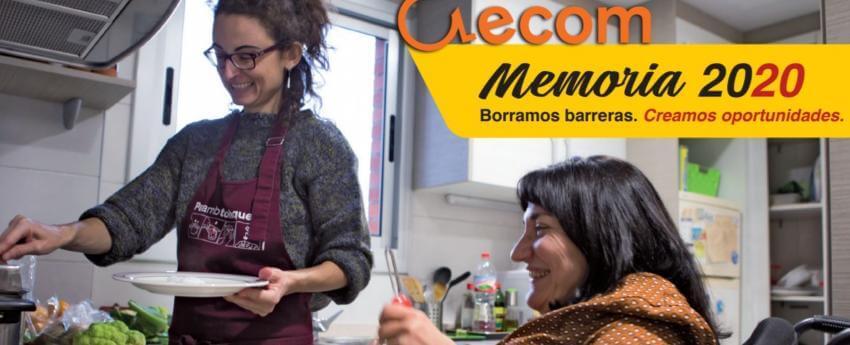Imagen de la portada de la memoria ECOM 2020