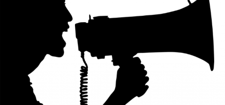 Iconografia d'un home parlant per un megàfon